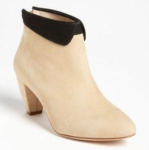 🌼 Loeffler Randall suede beige + black booties